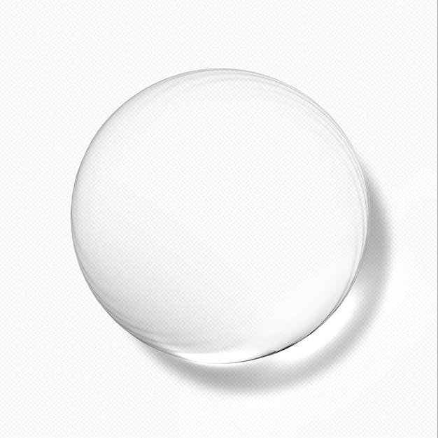Gocce d'acqua trasparenti Psd Premium