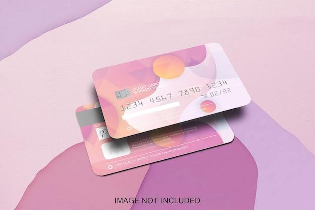 Due carte di credito mock up isolato Psd Premium