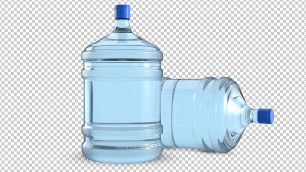 Due grandi bottiglie di plastica per raffreddare l'acqua Psd Premium