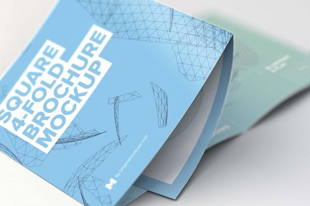 Mockup di brochure pieghevole a 4 pieghe Psd Premium