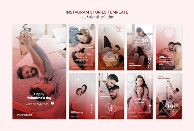 Modello di storie di instagram di omosessualità di san valentino Psd Premium