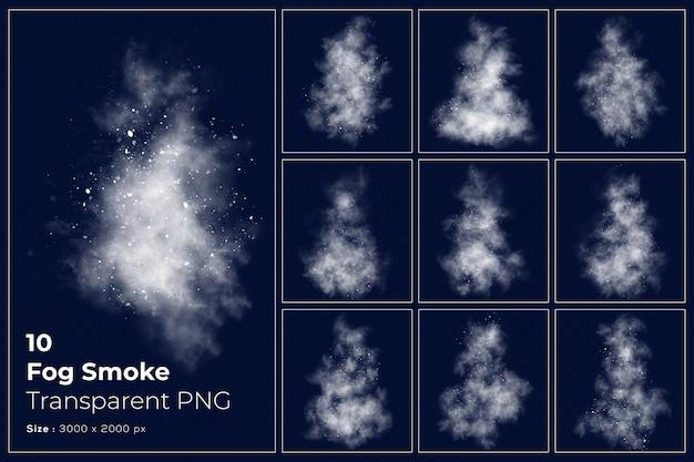 Varie forme di raccolta trasparente fumo nebbia Psd Premium