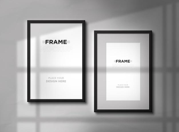 Progettazione di mockup di cornici per foto verticali Psd Premium