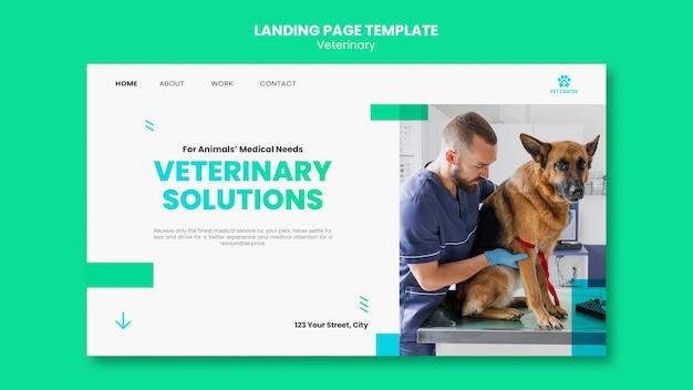 Pagina di destinazione del modello di annuncio veterinario Psd Premium