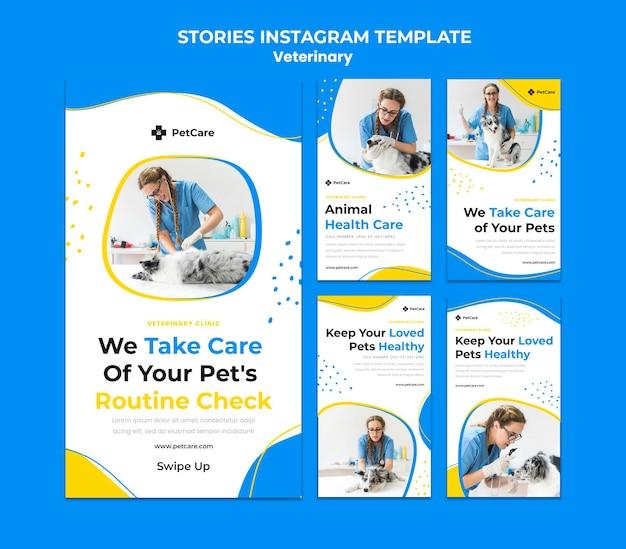 Modello di storie di instagram di clinica veterinaria Psd Premium