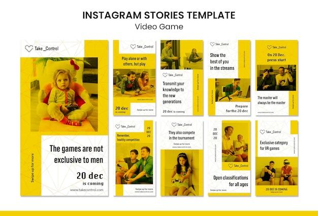 Modello di storie di instagram di videogiochi Psd Premium