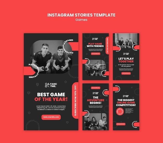 Storie sui social media dei videogiochi Psd Premium