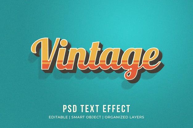 Effetto stile testo vintage Psd Premium
