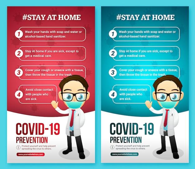Consigli sulle infezioni da virus social media story Psd Premium