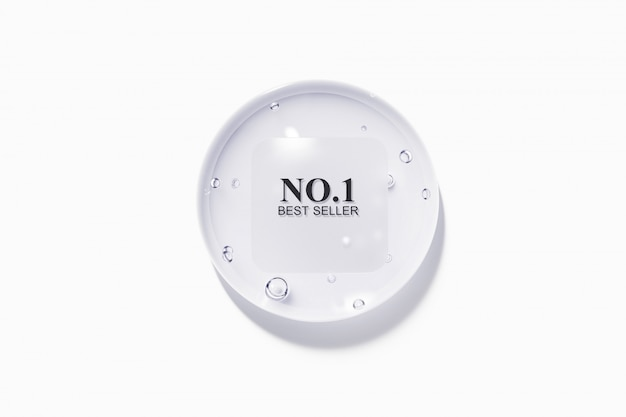 Goccia d'acqua con etichetta ruvida nuvolata in plastica Psd Premium