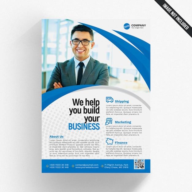 Modello di brochure aziendale ondulata Psd Premium