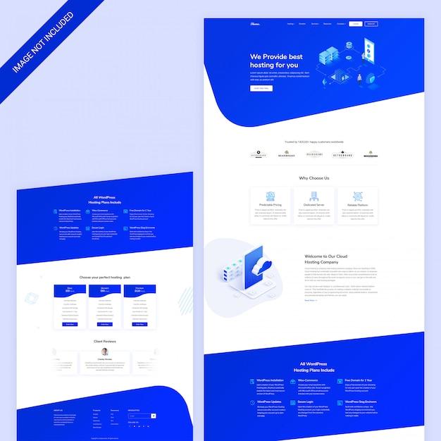 Dominio web e pagina web di hosting Psd Premium