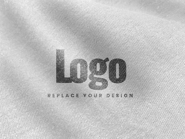 Logo mockup di tela bianca realistico Psd Premium