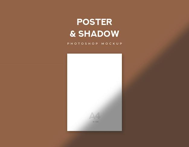 Carta bianca per poster o flyer formato a4 e ombra Psd Premium