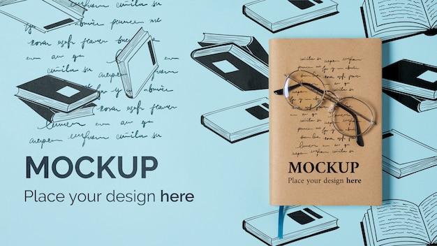 Mock-up di concetto di giornata mondiale del libro Psd Premium