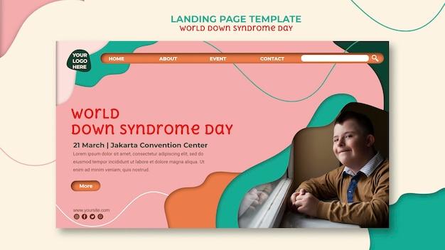 Pagina di destinazione della giornata mondiale della sindrome di down Psd Premium