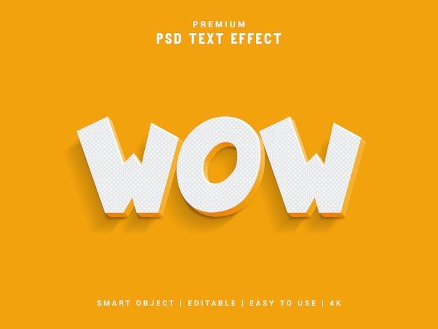 Wow effetto testo premium Psd Premium