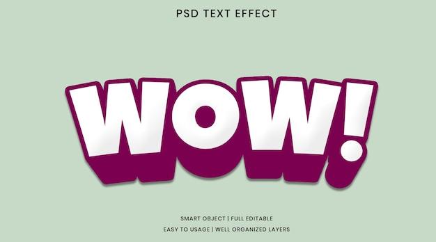 Wow modello psd effetto testo Psd Premium
