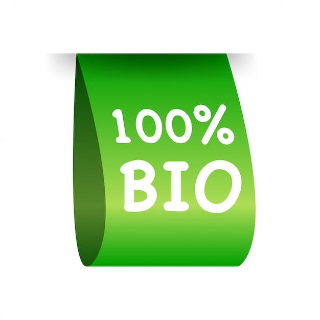 Etichetta bio al 100 percento. naturale, biologico Vettore Premium