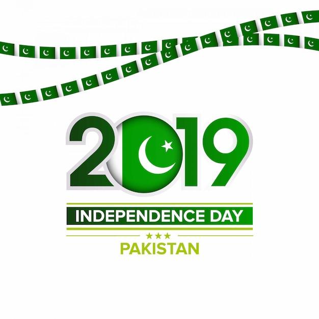 14 agosto giorno dell'indipendenza del pakistan Vettore Premium