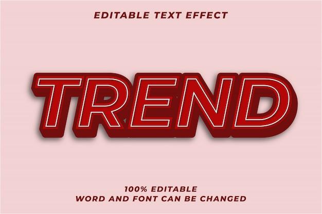 Effetto di testo in grassetto rosso scuro 3d Vettore Premium