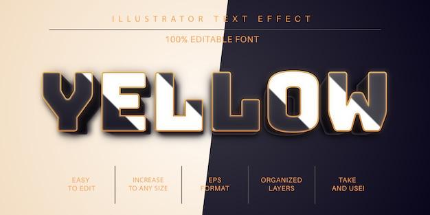 Stile di carattere effetto testo dorato 3d Vettore Premium