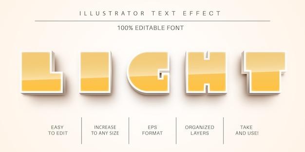 Stile di luce 3d effetto testo stile Vettore Premium