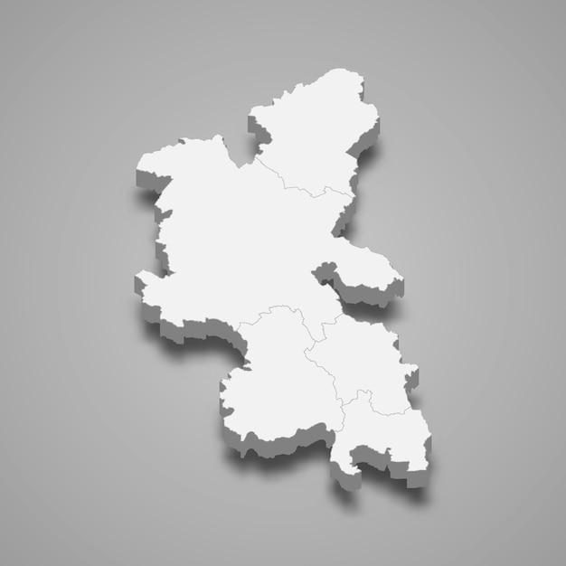 Mappa 3d dell'illustrazione cerimoniale della contea di inghilterra del buckinghamshire Vettore Premium
