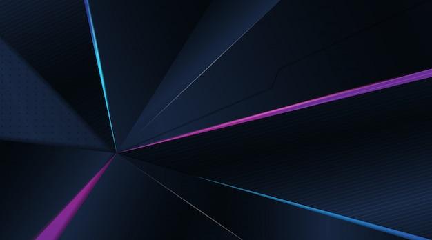 Priorità bassa blu scuro di gioco astratto moderno 3d Vettore Premium