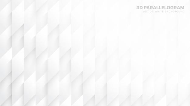 Il parallelogramma 3d blocca il fondo astratto bianco concettuale Vettore Premium