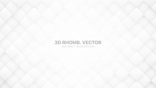 Il rombo 3d blocca il fondo astratto bianco tecnologico Vettore Premium