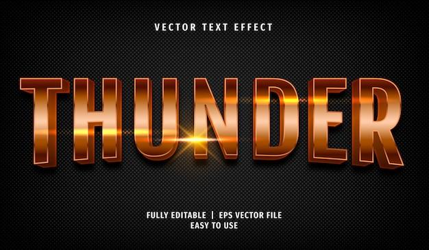 Effetto testo 3d tuono, stile di testo modificabile Vettore Premium