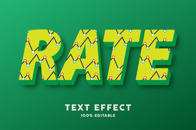 Verde giallo 3d con effetto di testo astratto del modello di zigzag Vettore Premium