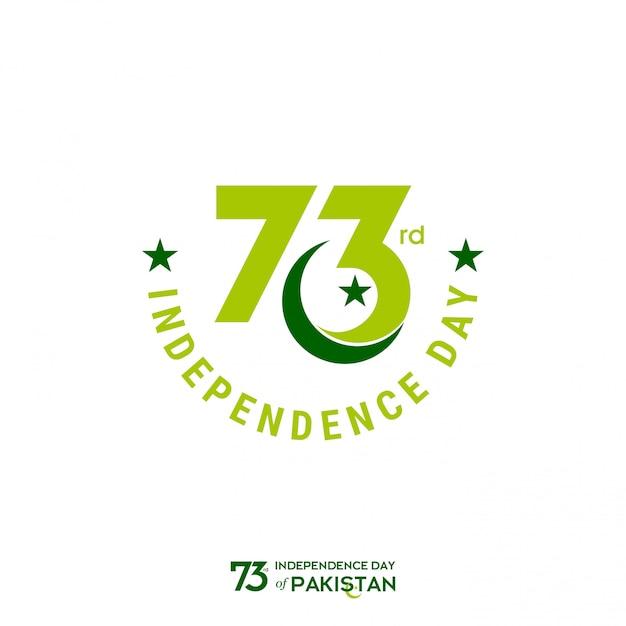 73a festa dell'indipendenza del pakistan Vettore Premium
