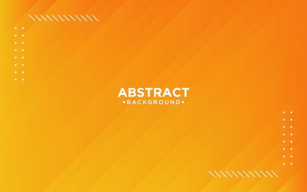 Priorità bassa a strisce arancione 3d astratta Vettore Premium
