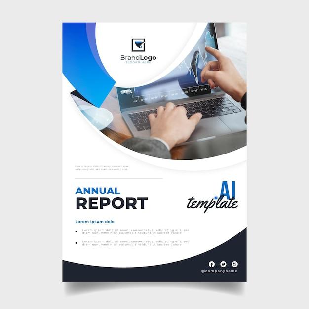 Modello astratto di relazione annuale Vettore Premium