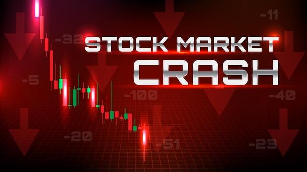 Backgroud astratto del crollo del mercato azionario con tutto il settore Vettore Premium