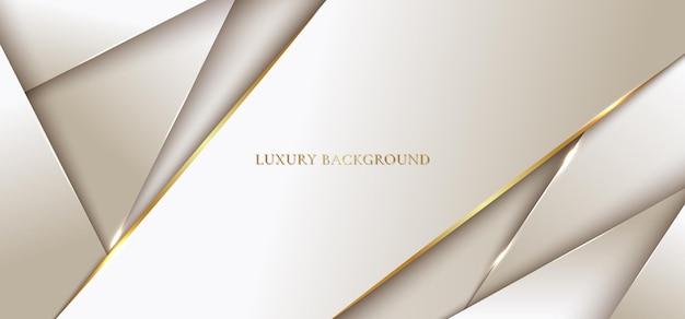 Fondo astratto moderno modello di lusso dorato geometrico con linea. Vettore Premium