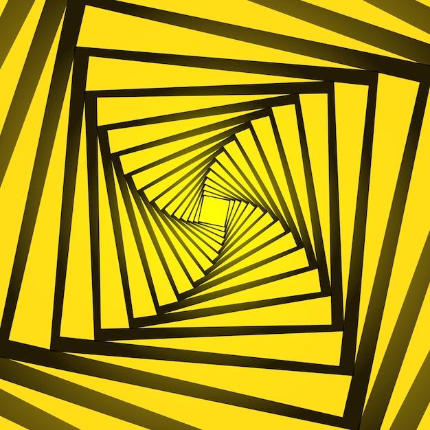 Sfondo astratto con un design di illusione ottica Vettore Premium