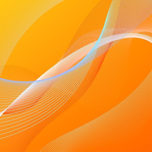 Sfondo astratto con linee arancioni e blu Vettore Premium