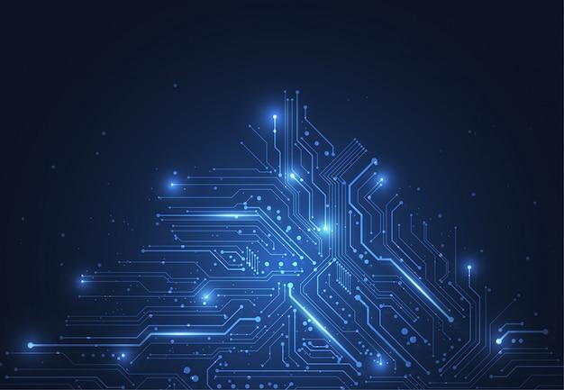 Priorità bassa astratta con struttura del circuito di tecnologia Vettore Premium