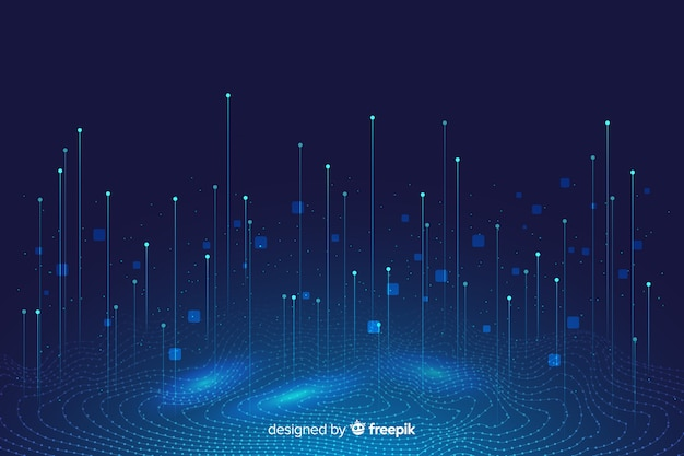 Fondo astratto di concetto di grandi quantità di dati Vettore Premium