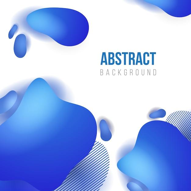 Modello astratto sfondo blu liquido Vettore Premium