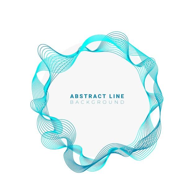 Cerchi astratti linee tondo design del telaio isolato su sfondo bianco Vettore Premium