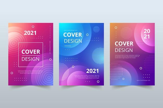 Copertine colorate astratte Vettore Premium