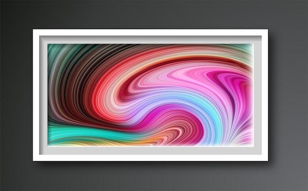 Composizione dipinta artistica alla moda creativa astratta Vettore Premium