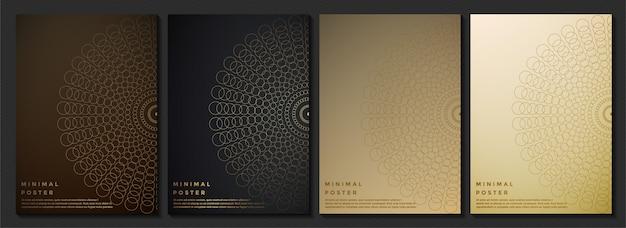 Struttura astratta del modello di colore scuro per il modello di copertina del libro Vettore Premium