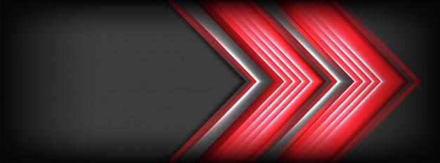 Il fondo grigio scuro astratto con le linee rosse evidenzia il fondo Vettore Premium