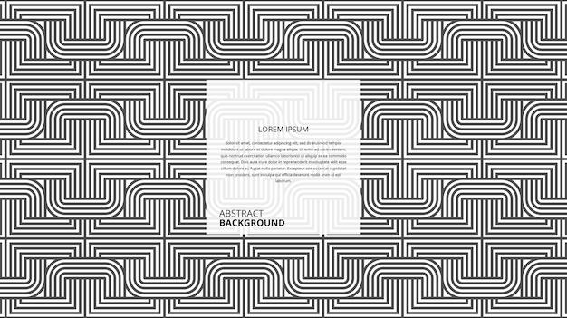 Modello di linee di forma quadrata sinuosa decorativa astratta Vettore Premium