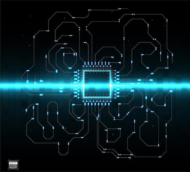 Modello astratto della priorità bassa del sistema operativo di tecnologia digitale Vettore Premium